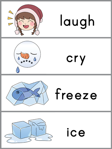 The Wee Snowman word wall template
